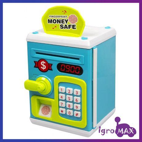 Детская копилка сейф с кодовым замком M6161 для бумажных денег и монет