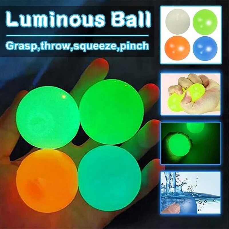 Липкие мячики /Липкие шарики/Антистресс/Светятся в темноте/Тренд 2021