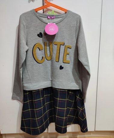 Nowa sukienka krata Cool Club smyk rozmiar 134