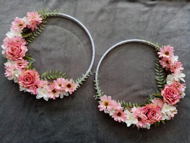 Wianki sztuczne kwiaty ślub komunia