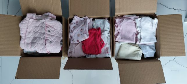 Mega paka ubranka dla dziewczynki rozmiar 50 56