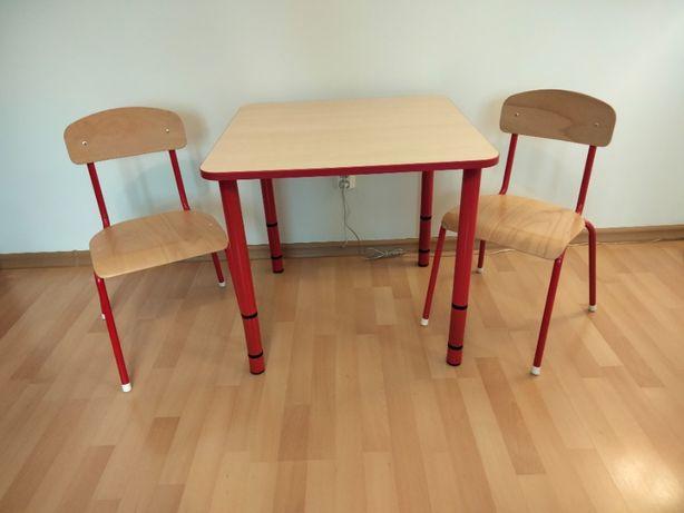 Stół Bambino kwadratowy z krzesłami Bambino
