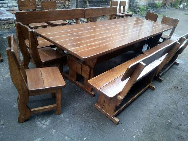 Стол и лавки комплект мебели