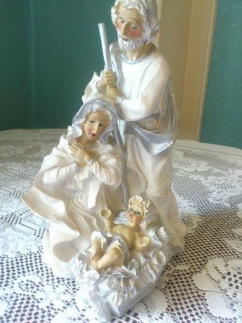 Niepowtarzalna figurka Świętej Rodziny (gipsowa)