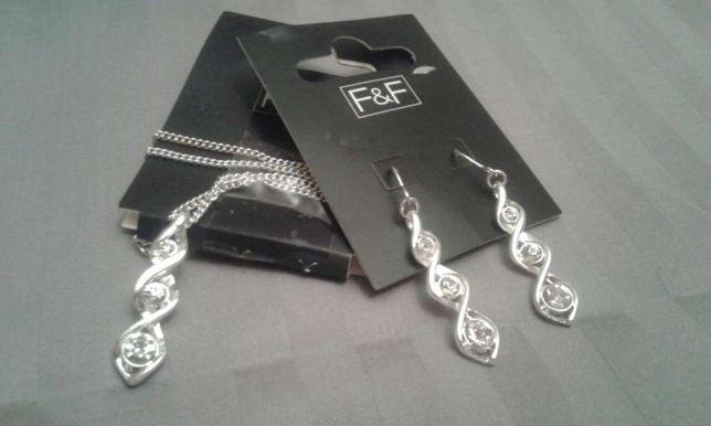 Komplet biżuterii kolczyki naszyjnik