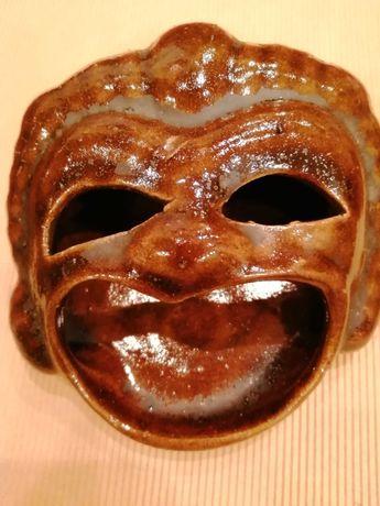 Ceramika ozdoba maska maszkaron
