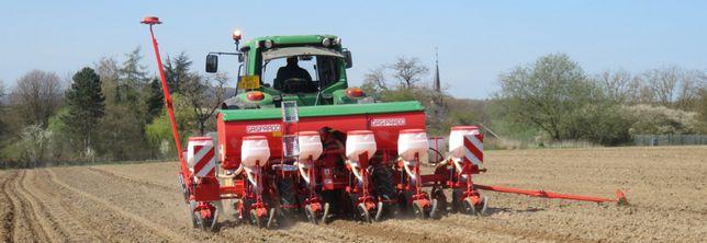 Siew kukurydzy z GPS