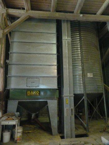 Suszarnia ciągła do zboża Rako DT 40 4T/h pojemność 13T silos elewator