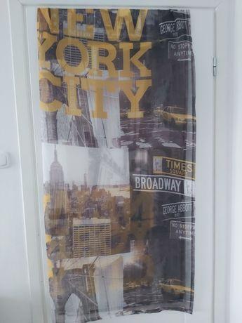 Firanka new york city na 2 okna male i balkonowe