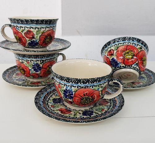 Filiżanka maki ceramika Bolesławiec