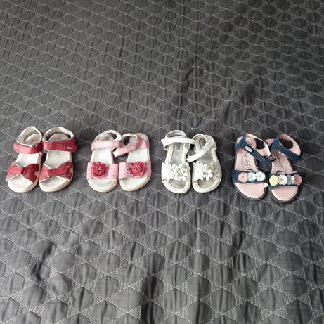 Sandałki skórzane na dziewczynkę 26, 27, 29