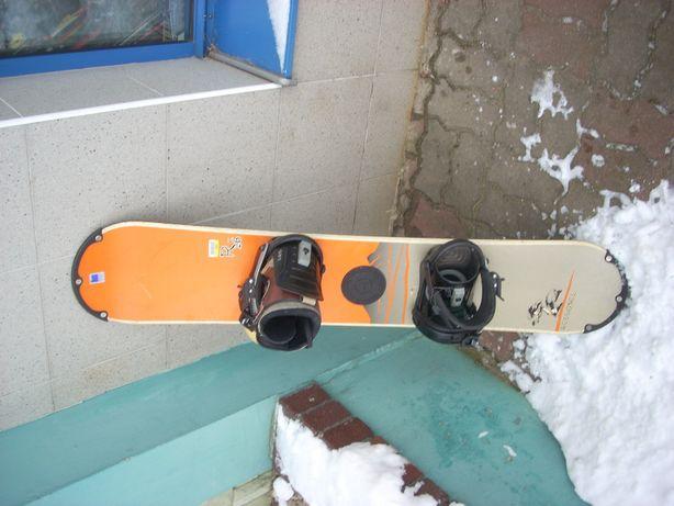 Deska snowboardowa z butami