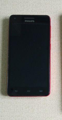 Продам смартфон Phillips красного цвета