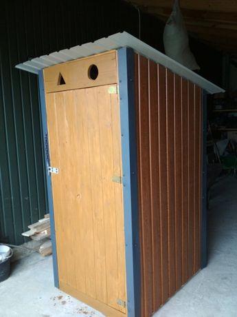 WC toaleta drewniana ubikacja wychodek kibelek na budowę lub działkę