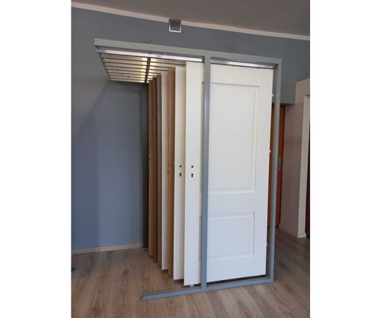 Stojak ekspozycyjny na 9 skrzydeł wewnętrznych/ekspozytor drzwi