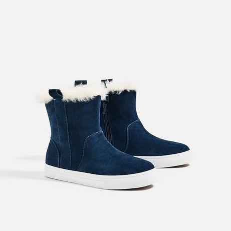 Замшевые ботинки Zara, ботинки
