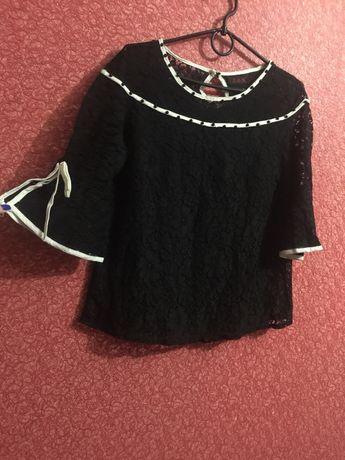 Нарядная блузка,кофта кружево (черный цвет)