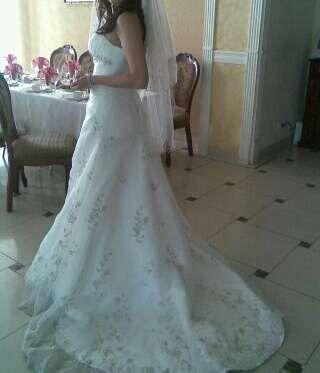 Выпускное/Свадебное платье со шлейфом.42-44размер