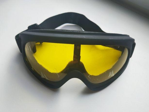 Лыжная маска очки горнолыжные защитные для сноуборда окуляри мотоочки