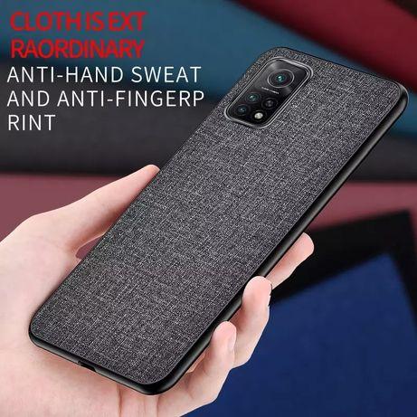 Гібридний текстильний захисний чохол xiaomi Mi Note 10 Pro сірий