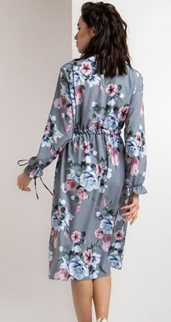 Платье миди цветы ретро 52р