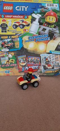 Lego city Пожежний квадроцикл+журнал