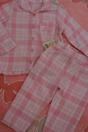 Piżamka dla dziewczynki 2 częściowa: bluzeczka + spodnie
