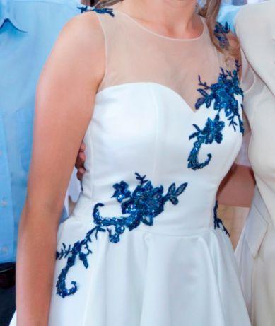 Śliczna sukienka w kolorze ecru!