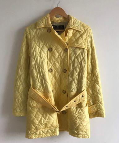 Barbour Flyweight Valerie 38 S M куртка стеганка легкая желтая светлая