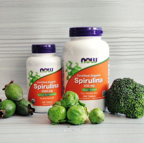 Спирулина, Now Food, 500 мг