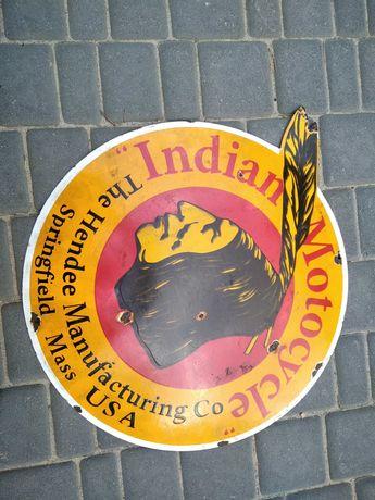 szyld emalia tablica Indian