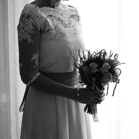 Asymetryczna sukienka ślubna