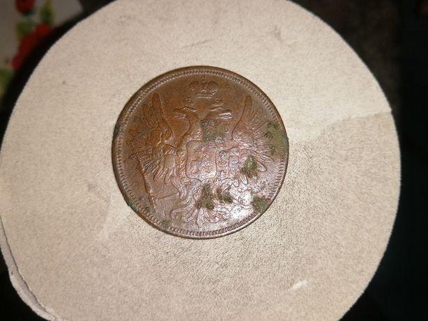 Монета 5 копеек 1852