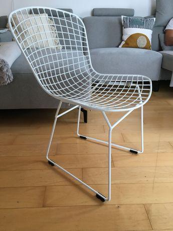 Krzesło Wir białe, metalowe