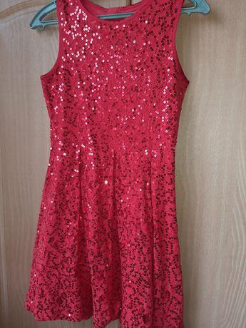 Платье с пайетками 158р