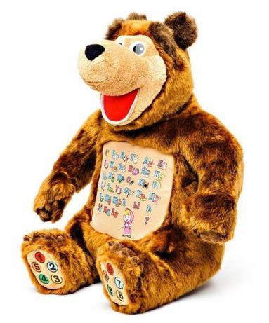 """Развивающая интерактивная мягкая игрушка """"Маша и медведь"""""""