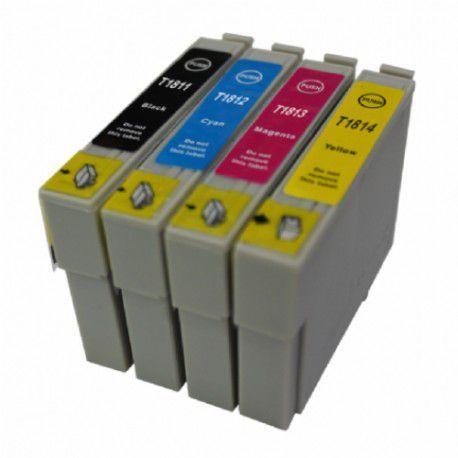 4 Tinteiros Compativeis Epson 18 XL - ref. T1811/2/3/4