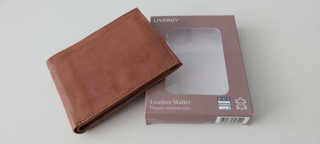 Nowy męski portfel skórzany