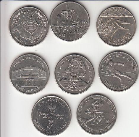 zestaw polskich monet z lat 89-94 ubiegłego wieku