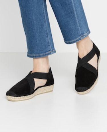 Espadryle sandały damskie 38 czerwone