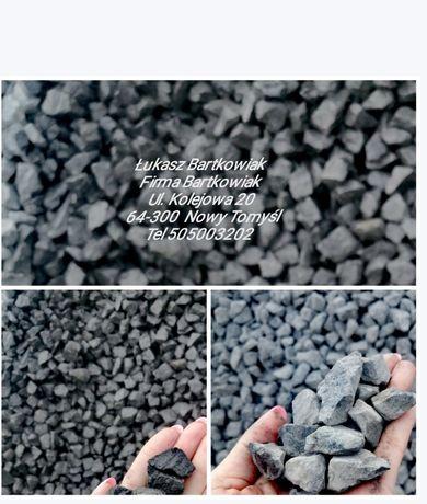 Kamień ogrodowy Grys Grafitowy,bazaltowy Promocja !!