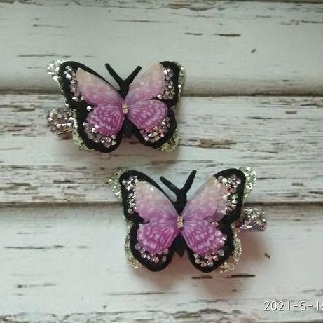 Заколки бабочки метелики