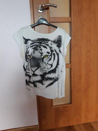 Tshirt z tygrysem r. S TYLKO 10zł!!!