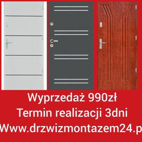 Wyprzedaż 990zł drzwi z montażem Legnica