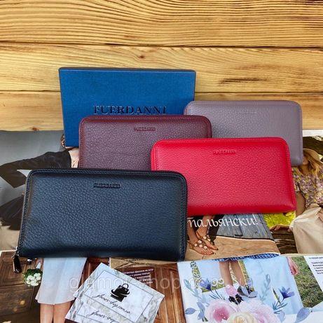 Женский кожаный клатч кошелек портмоне черный жіночий шкіряний гаманец