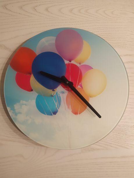 Optymistyczny kolorowy zegar ścienny 30cm