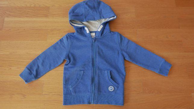 F&F bluza dresowa niebieska r.104 chłopiec bdb
