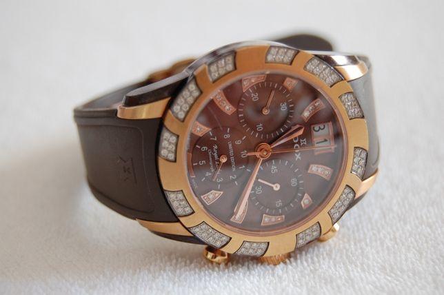 Zegarek Edox Royal Lady z diamentami, certyfikat, limitowana edycja