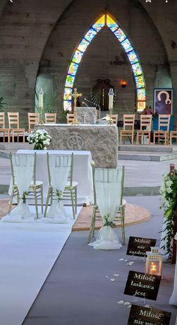 Dekoracje kościoła na ślub