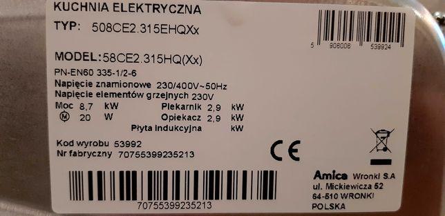 Kuchenka elektryczna Amica 230/400V